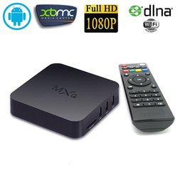 Wholesale Android Ott TV Box Amlogic S805 MXQ Kodi15 loaded Quad Core Set TV Box support P H Google Play Store App Download Internet Boxes