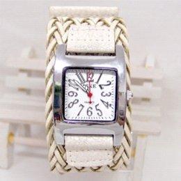 Wholesale weaving Leather Band Fashion Student s Wrist Watch Women Quartz Watch KOW002 Cheap watch spongebob square pants
