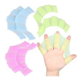 S M L Frog Webbed Palm Silicone Flying Fish Swimming Hand Webbed Flipper Gloves Underwater Fins for Men Women Kid