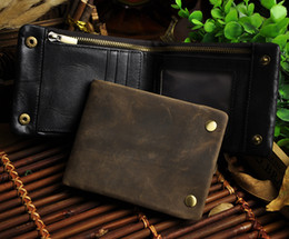 Wholesale 1314 Crazy horse leather men wallet Hot sales design best quality men money clip vintage antique style private logo welcome for wholesaler