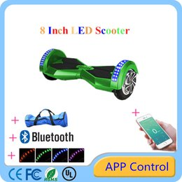 Wholesale UL Certification Bluetooth quot Hoverboard Smart Balance Wheel Electric Scooters Electric Scooter With APP Control LED Light Multicolor