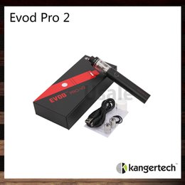 Wholesale Kanger Evod Pro Starter Kit All in One Design ml Capacity and mah Built in Battery Sliding Symmetrical Air Flow Valve Original