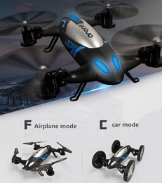 Wholesale Aerial aircraft amphibious air ground dual Speed Quadcopter UAV remote control airplane toy two black
