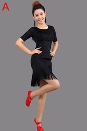 Wholesale New Latin Dance Costumes Performance Wear Women Tassel Latin Dance Dress Customize Ballroom Dance Dress Factory Direct Selling