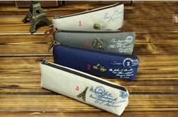 wholesale Korean cute pencil bags canvas zipper pencil case bags school supplies girls cosmetic bags kids gift