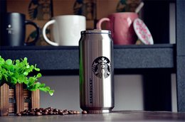Wholesale 500ml Starbucks coffee cup stainless steel vacuum cup creative beverage can coffe wine cup water glass