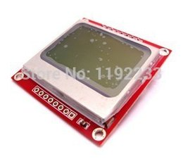 Wholesale X48 Nokia LCD Module Black Character with blue Background for Bit AVR PIC Projects