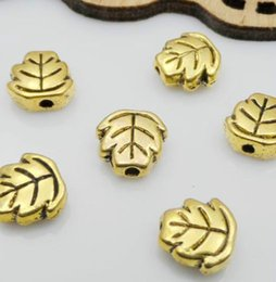 400PCS Gold Plated Leaf Spacer Beads For Jewelry Making Craft 3x7mm