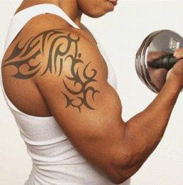 Strong Men Temporary Tattoo Stickers Body Art Painting Tattoo stickers.20.18225.Free shipping Temporary Tattoos Cheap Temporary Tattoos