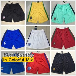 Wholesale Best Quality National Team Soccer Shorts Italy Spain Brazil Belgium Mexico Portugal France England Germany Football Shorts soccer pants