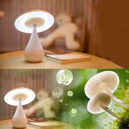 Wholesale Creative Negative ion air purifying LED lamp Smoke Cleaner Rechargeable Touch Control Night Light Mushroom Desk Lamp HOT SEARCH