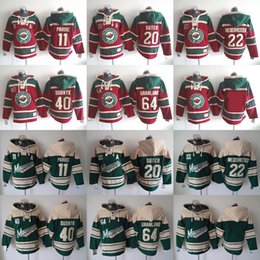 Wholesale NHL Minnesota Wild hoodies cheap hockey jerseys hoody Sweatshirts DUBNYK SUTER PARISE NIEDERREITER GRANLUND freeship