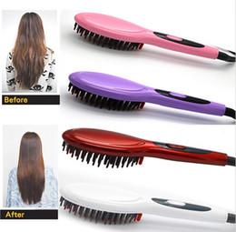 New Upgrade Hair Straightener Straightening Nanometer Brush Hair Styling Tool comb US EU UK AU standard free shipping