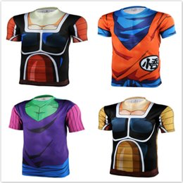 Wholesale New men women animation D tight short sleeve T shirt Classic Anime Dragon Ball Z Super Saiyan d t shirt tops