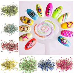 2mm 5000pcs Multicolor Round Glue Backing Iron On Alloy Nails Art Stickers Tips Glitter Metal Nail Tools DIY Phone Decoration Stamping