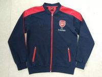 Wholesale Up to date best quality Arsenal black jerseys tracksuit Football Shirt Training Suit long sleeve soccer Jacket