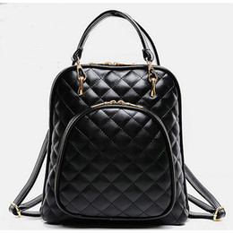 Hot Fashion Stylish Multifunction Check Womens Backpack Tote