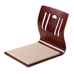Wholesale Japanese Tatami Chair Restaurant Floor Furniture Tatami Kotatsu Chair Zaisu Colors Japanese Style Floor Legless Tatami Chair