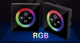 Wall Mounted Touch Panel RGB Full-color LED Controller,Rainbow RGB ControllerFor 5050 3528 3014 RGB Strip Lights