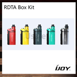 Wholesale iJoy Limitless RDTA Box Kit W RDTA Box Mod Built in12 ml Tank IMC Interchangeable Building Deck Firmware Upgradable Original