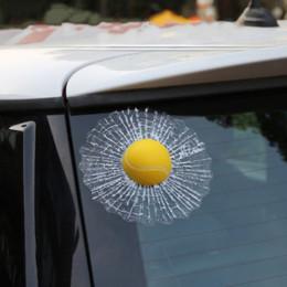 Wholesale Car styling D Car Sticker Football Basketball Tennis Baseball Hit Window For Ford Focus Volkswagen Golf Mercedes BMW Renault