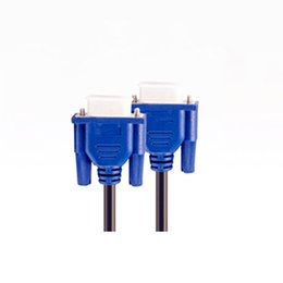 Wholesale 2016 Useful New Bule m VGA Cable HDB15 Male to Male Extension Monitor Cable