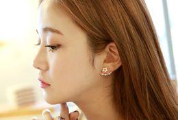 Wholesale S925 little Daisy flowers hanging earrings High grade allergy sterling silver jewelry earring Exquisite earings Earrings For Women