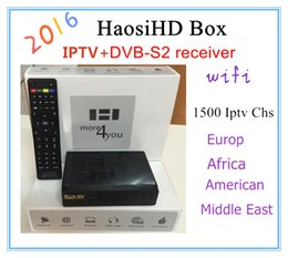 Wholesale 2016 the best cheapest Arabic high definition IPTV set top box with high definition Haosi Arab TV IPTV channel Europe and the Americ
