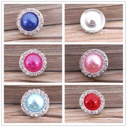 New DIY Noosa Button Alloy + Crystal + Pearl Snap buttons jewelry Accessories press studs rivca button for real Bracelets Rings Pendants