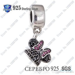 Wholesale crown Silver disne y limited Minnie charm ale sterling silver charms loose beads diy jewelry for thread bracelet DFMIN