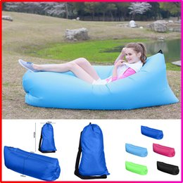 Wholesale Hot Selling Outdoor Portable Fast Inflatable Hangout Air Lazy Sleeping Sofa Bed Camping Hiking Travel Beach Bag Bed