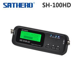 Buscador hd sathero en Línea-[Original] Sathero SH-100HD bolsillo Satélite Digital Satellite Finder Medidor Sathero SH-100 HD señal Sat Buscador de DVB-S2 USB 2.0 para tr $ 18Nadie