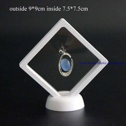 Transparent PET Suspension Window Watch Holder Pendant Ring Necklace Storage Stand Case Jewelry Display Rack 9*9CM