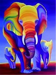 Wholesale YTG D DIY Diamond Painting Elephant Diamond Mosaic Home Decoration Set Diamond Painting Kit Or Personal Customized Any Image