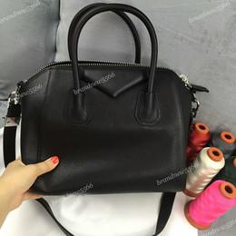 100% goatskin leather tote bags classic small women antigona totes genuine leather handbags women shoulder bags 0061050 mix colors free