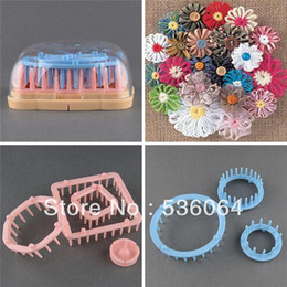 Set of 6 Size Yarn Craft Maker Flowers Pattern Tassels Loom Home DIY Tools Kit shipping