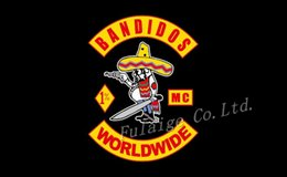 Wholesale New Arrived Bandidos Flag x5 ft Banners Custom Flying Flag Size No cm