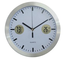 Wholesale Modern Thermometer and Hygrometer wall clock for home decorating best selling quot multifunction product for