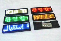 Wholesale Double free drive LED badges red LED badges shopping guide LED electronic badges LED work number plate