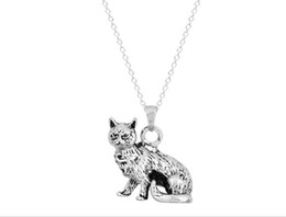 Animal series cat cat of stereoscopic pendant men's and women's ancient color necklace lovely and sweet