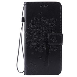 Wholesale For Samsung J1 ACE Fashion cardholders Wallet Leather Emboss tree the tree of life Flip Wallet Case Cover with Kickstand and Wrist Strap