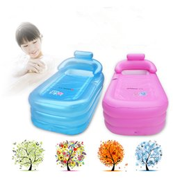 Wholesale Adult folding inflatable bath bucket Portable thicker insulation inflatable bathtub size cm