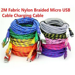 Wholesale cheap iphone cable Braided V8 Micro USB Charger Cable Data Sync Nylon cord for Samsung Blackberry android phone M FT