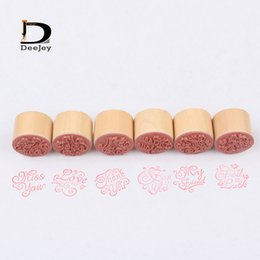 Wholesale Antique floral pattern or wishing words Wooden Rubber Stamps DIY scrapbooking Decor scrawl Photo Album handwriting