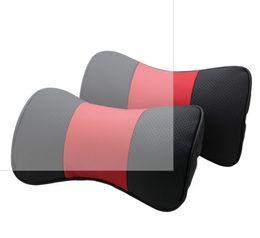El nuevo coche auto de la almohadilla del coche del cuero genuino de la almohadilla del cuello del apoyo para la cabeza de la llegada 2016 cubre el amortiguador de asiento cubre la PU cómodo absorbe el coche del sudor desde cojines reposacabezas de cuero fabricantes