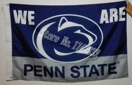 Wholesale Penn State University NCAA Flag hot sell goods X5FT X90CM Banner brass metal holes PS04