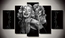 Wholesale Framed Printed marilyn smile now Painting on canvas room decoration print poster picture canvas F