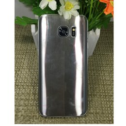 Wholesale Unlocck Goophone S7 Quad core MTK6580 quot Unlock Phone Real GB ram GB Show Fake G Smart Phone SM G930 with case sealed box No profit