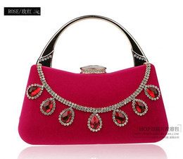 Wholesale Sweetheart Allured Evening Bags Handbags Diamond Blue Black Red Rose Apricot cm Fashion Woman Bags Cheap Price