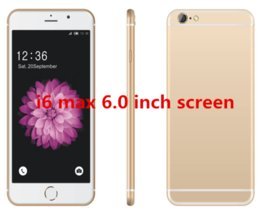 Wholesale 6 inch T11 Quad Core Android MTK6580 M GB show GB GB G show fake G GPS Bluetooth Smart Phone With MP Dual came